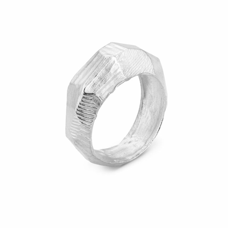 Ring Face Silber